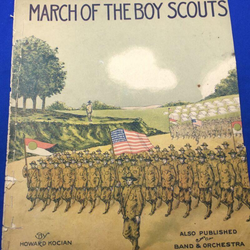 Boy Scout Sheet Music March Of The Boy Scouts By Howard Kocian