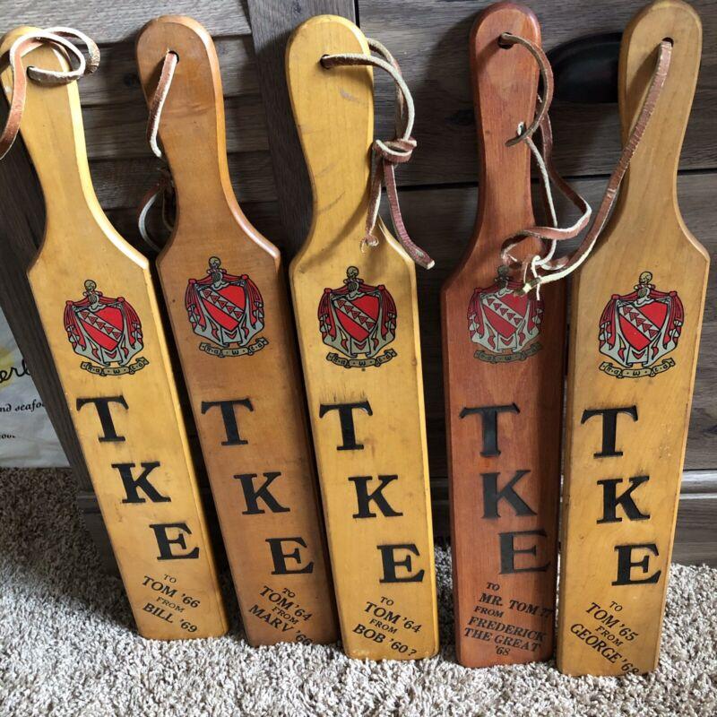 1960's TKE Fraternity Paddles Indiana University