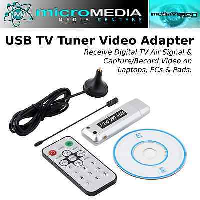 MediaVISION- USB 2.0 Digital TV Tuner-Receiver Adapter Dongle-TV DVB-T