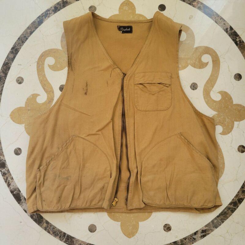 Drybak Hunting Vest Large Canvas Vintage Game Jacket