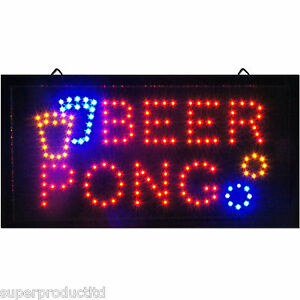 Flashing-Animated-BEER-PONG-LED-neon-Sign-store-bar-pub-light-display-game-drink