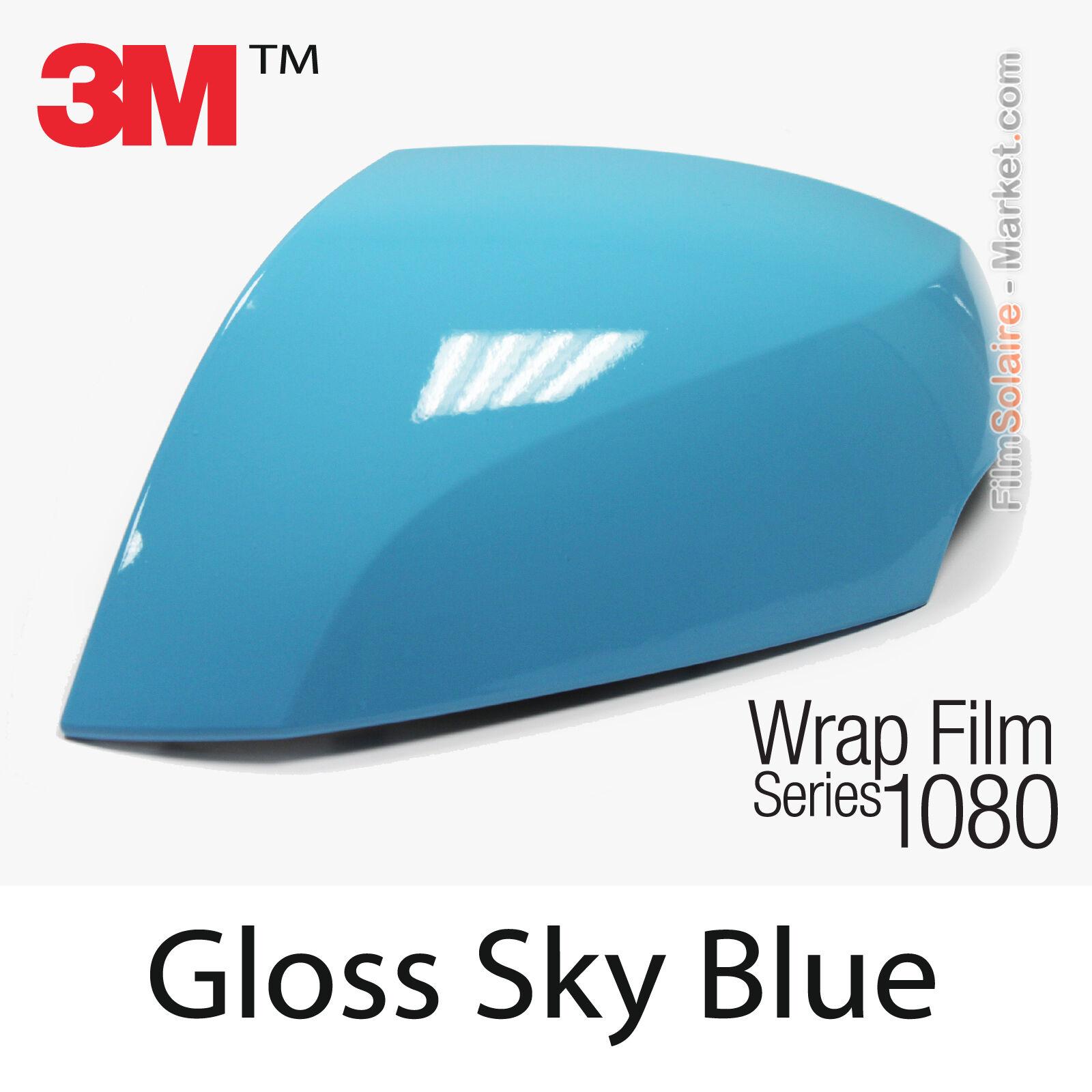 Car Wrap Vinyl Film 3M 1080 G77 GLOSS SKY BLUE 5ft x 1ft 5 Sq//ft