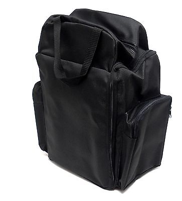 12 Black Velvet Pad Jewelry Storage Display Trays With Carrying Case