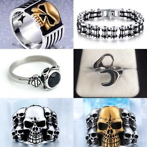 Harley Davidson, Skull, Punk and Biker jewelry-Brand New
