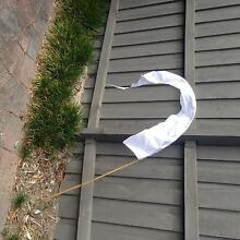 Baliflags - 10 white 2m flags incl pole Elanora Heights Pittwater Area Preview