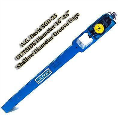 Ag Davis Outer Diameter Omni Gage Sgd-25 Shallow Diameter Groove Gage 16-26