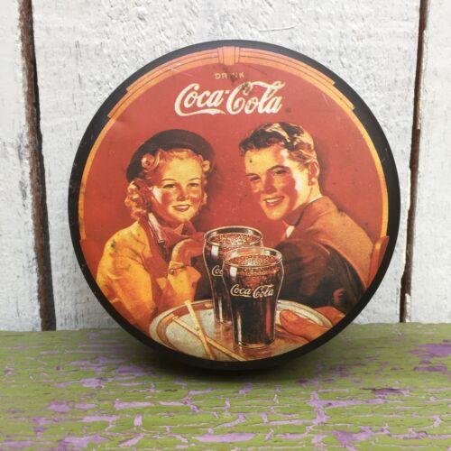 Vintage Coca Cola Round Tin Box