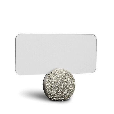 Gift Box Place Card Holder - L'Objet Platinum Pave Sphere Place Card Holders, Set of 6 in Gift Box