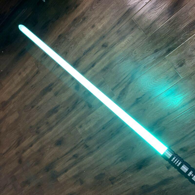 Star Wars Lightsaber RGB Force Duel Metal Jedi Handle Light Saber Toy US Stock