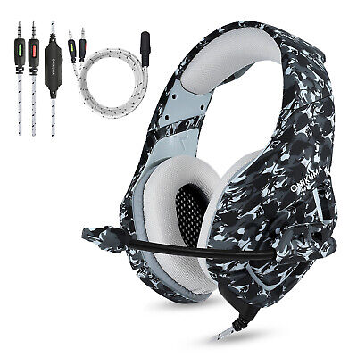 ONIKUMA K1 Stereo Bass Surround Gaming Headset for PS4 New...