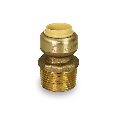 1 Sharkbite Style Push Fit Reducing 34 Male Threaded Adapters - Upmc134