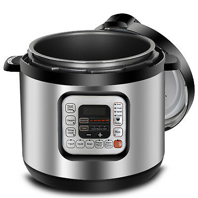 6 Qt Relatives Electric Pressure Cooker 11 Presets Powerful 1000W Fast Cooking