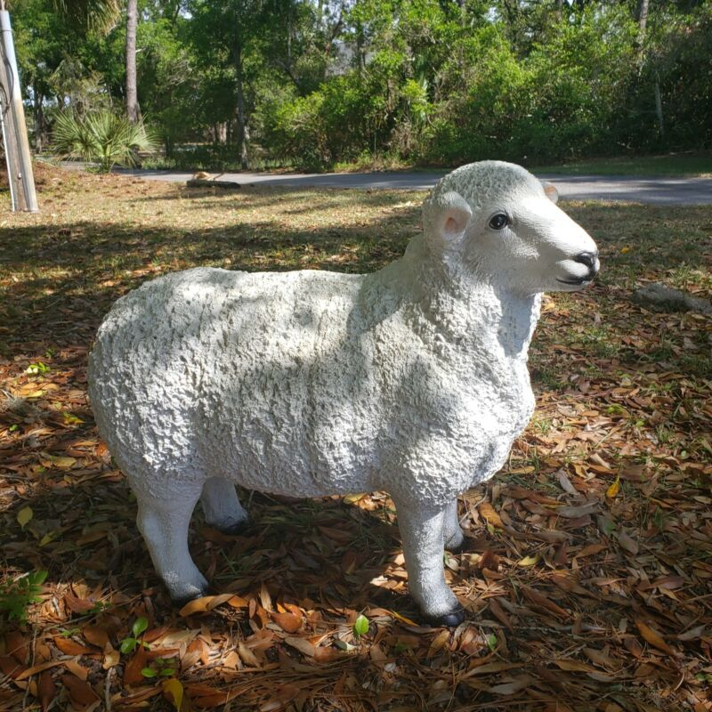"Can deliver to Atlanta. Sheep Farm Animal Display Life Size Statue 25"" tall 28"""