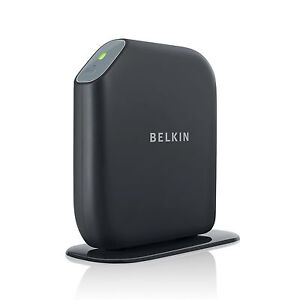 BELKIN-ROUTER-WIRELESS-N-N300-SHARE-PRINTER-OR-STORAGE-PC-MAC-4-LAN-NEW-F7D3302