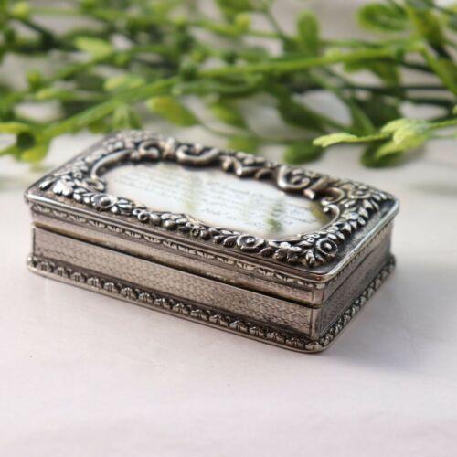 Antique silver box snuff box dated 1837 5816