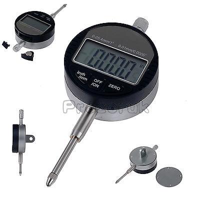 Digital Probe 0.01mm/.0005''Range Dial Indicator Clock DTI Gauge 0-25.4mm/1'' UK