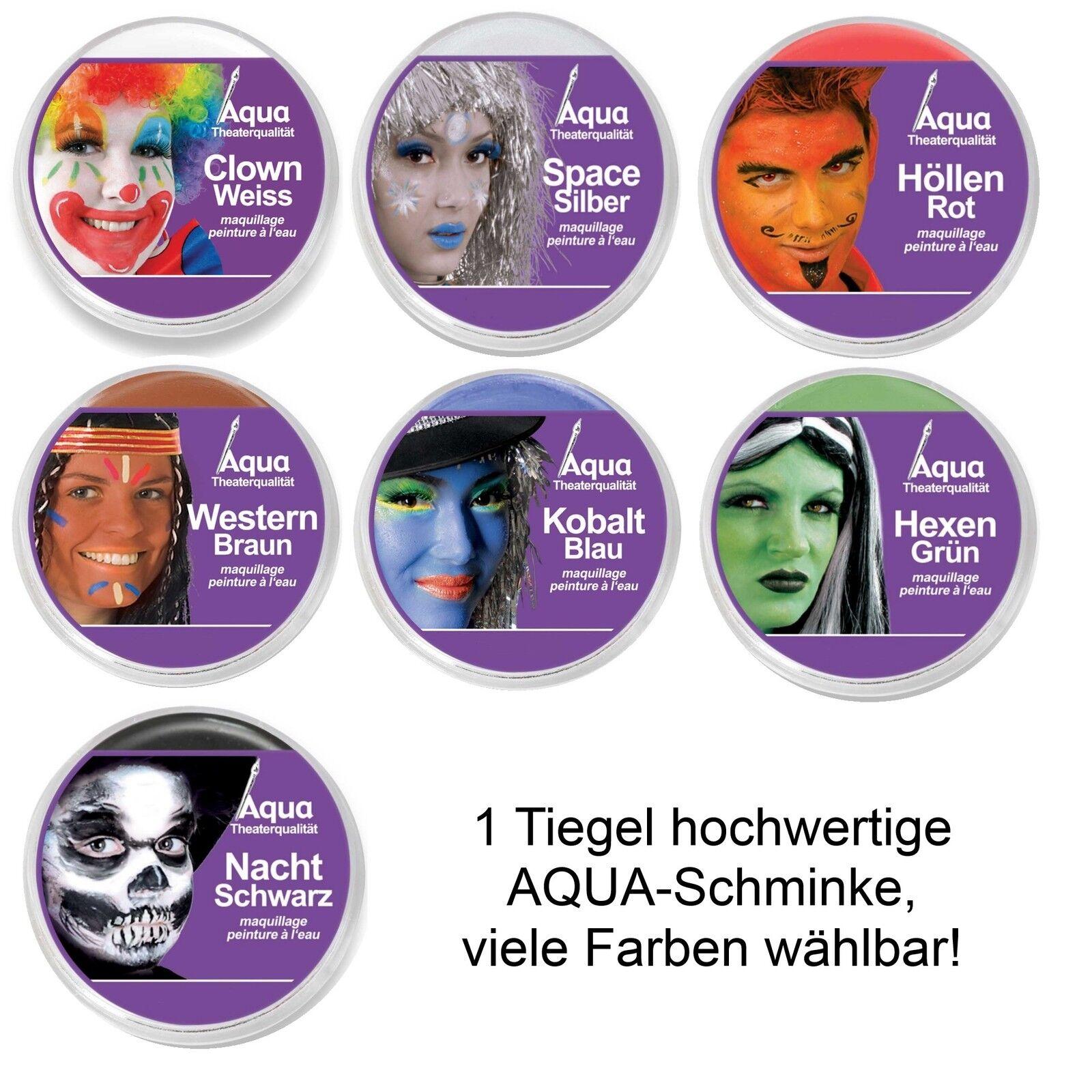 Theaterschminke Aqua Wasserfarben Schminke Kinderschminke Aquaschminke Tiegel