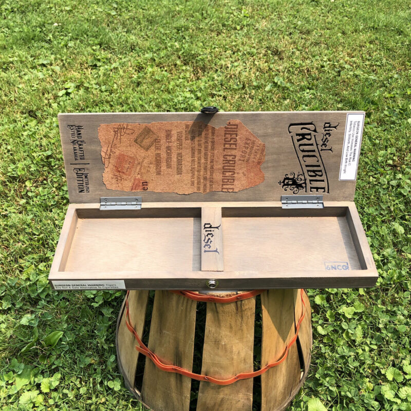 Diesel Crucible Empty Wooden Cigar Box 4.5x14x1.25