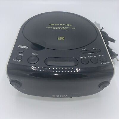 SONY Dream Machine CD Player ICF-CD815 FM/AM Radio CD-R/RW Dual Alarm Clock Mint