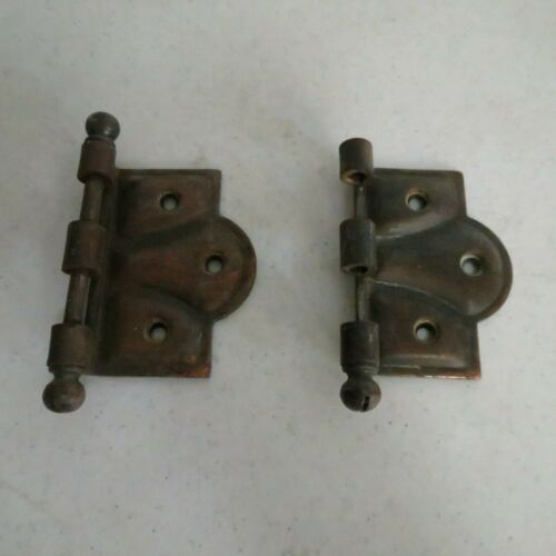Vintage Antique Pair of Hinges Brass