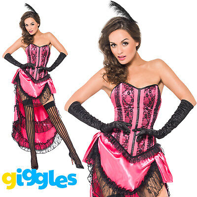 Burlesque Outfits For Women (Can Can Diva Moulin Rouge Burlesque Costume Womens Ladies Fancy Dress)
