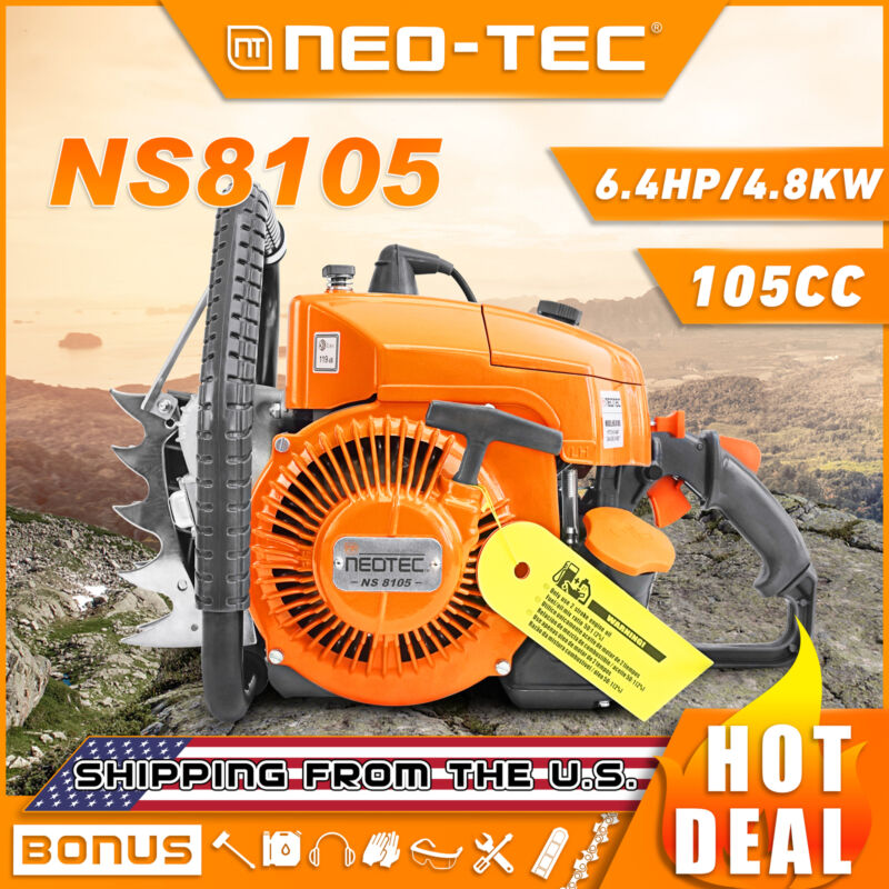 NEO-TEC 105cc Gas Chainsaw Power Head Fit For MS070 720 090 Tree Cut Without Bar