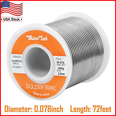 60-40 Tin Lead Rosin Core Solder Wire For Electrical Solderding .0782.0mm 454g