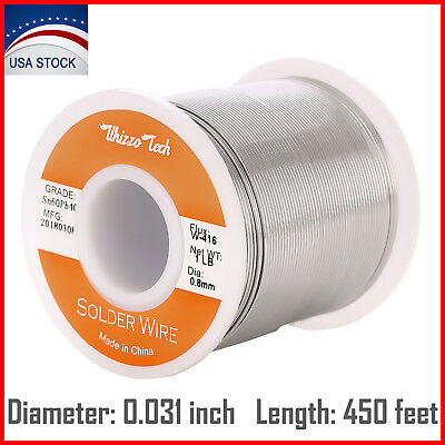 6040 Tin Lead Rosin Core Solder Wire Electrical Sn60 Pb40 Flux 0.031 Inch 1lb