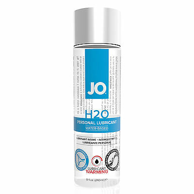 System JO H2O Warming Water Based Sex Lubricant 8oz