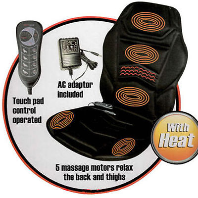 HEATED BACK SEAT MASSAGE CUSHION FOR CHAIR CAR MASSAGE HOME RELAX VAN