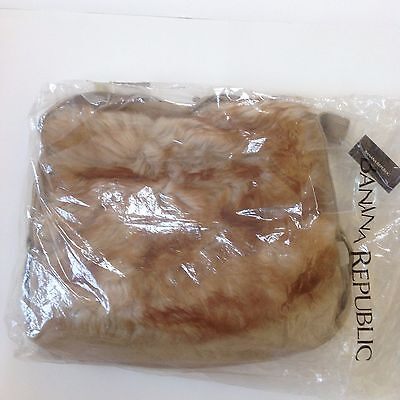 NWT- **Limited Edition**Women's Banana Republic Genuine Lamb Shearling Fur Bag