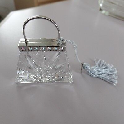miniture crystal purse very cute and rare!