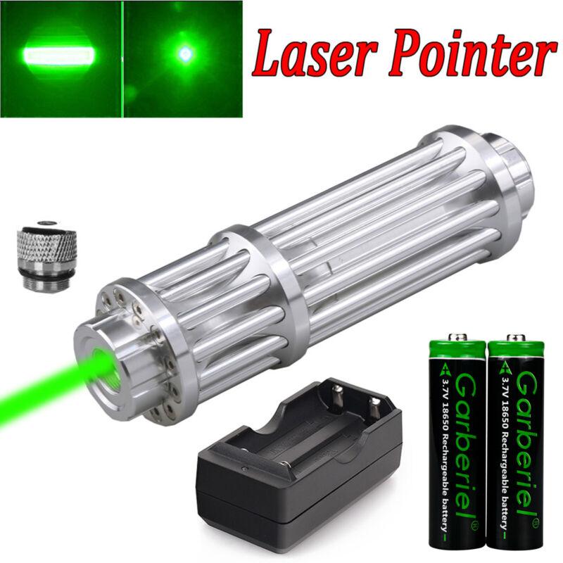 532nm Green Laser Pointer Pen Visible Beam Light Zoom Adjustable Focus Lazer Set