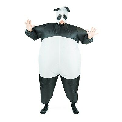 Adult Funny Inflatable Panda Bear Mascot Costume Outfit Suit Halloween One Size (Bear Suit Costume)