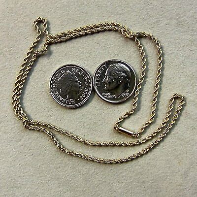 9 ct gold second hand antique solid rope chain