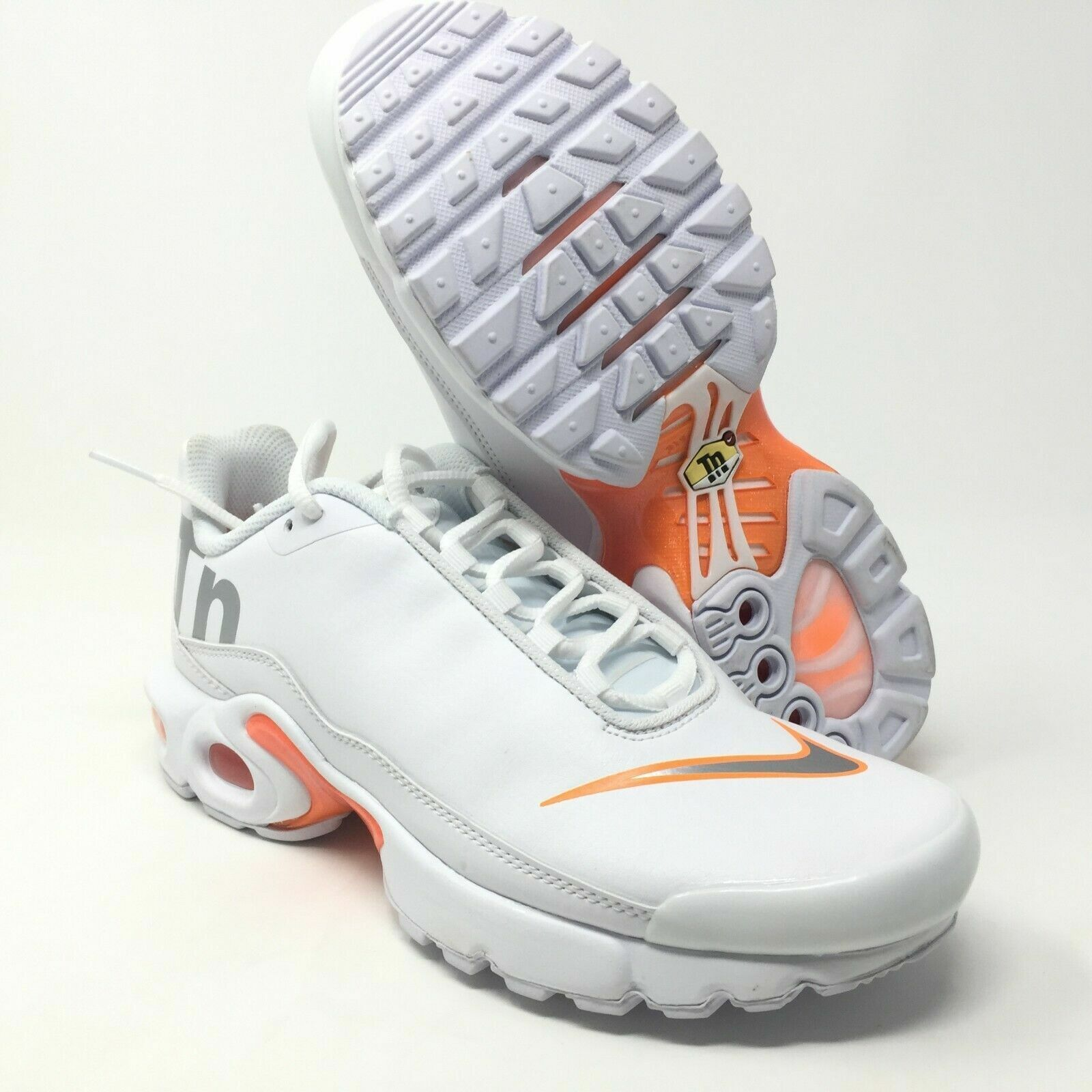 innovative design 1afc9 7b2c9 Details about Nike Air Max Plus TN SE GS White Orange AR0005-100 Size 5.5Y  Women's 7