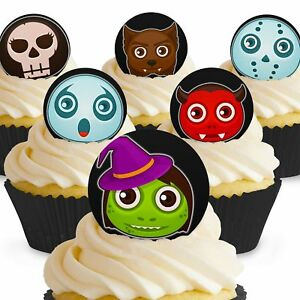Cakeshop 12 x PRE-CUT Halloween Avatar Edible Cake Toppers