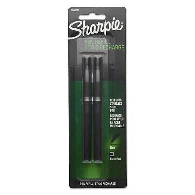 Sharpie Refill For Stainless Steel Pen Fine Black 2pack