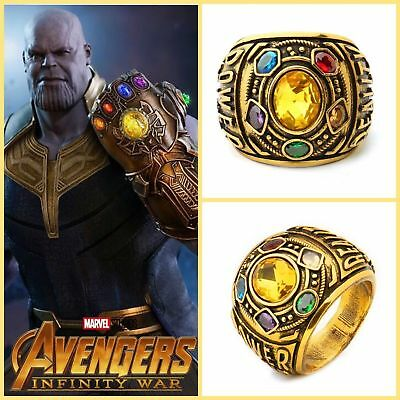 Thanos Infinity Gauntlet Ring Power War Avengers Cosplay Jewelry Stone 8 -12 US! - Avengers Jewelry