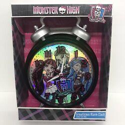 Monster High Growlicious Alarm Clock Jumbo Twin Bell NEW Quartz Mattel