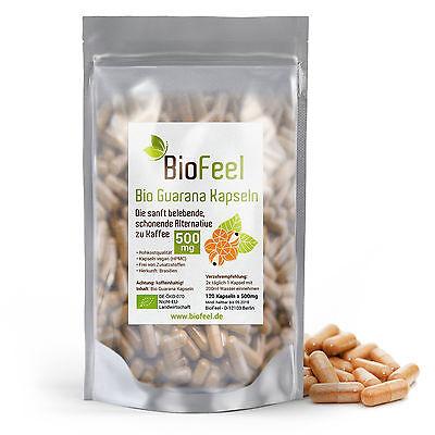 BioFeel - Bio Guarana Kapseln, 120 Stk., 500mg