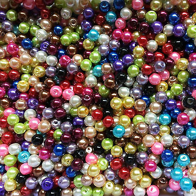 Wholesale Mixed Czech Glass Pearl Round Spacer Loose Beads Finding 4/6/8/10/12mm