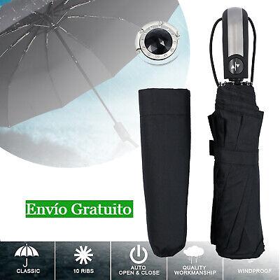 Paraguas Plegable con Apertura y Cierre Automático Durable Paraguas de Viaje