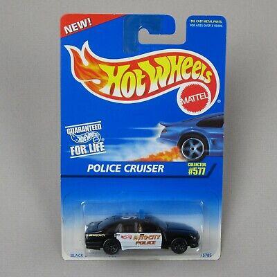 Hot Wheels POLICE CRUISER #577 *Black & White/Black SP7s* Holden Commodore 1996