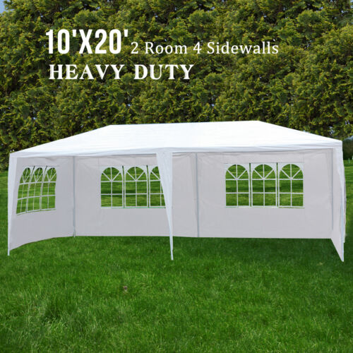 10'x20' Canopy Party Wedding Tent 4 Sidewall Outdoor Gazebo