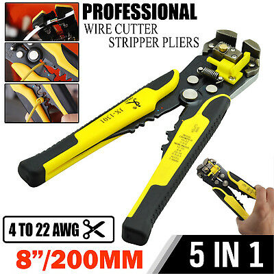 Adjustable Automatic Cable Wire Crimper Crimping Tool Stripper Plier Cutter Awg