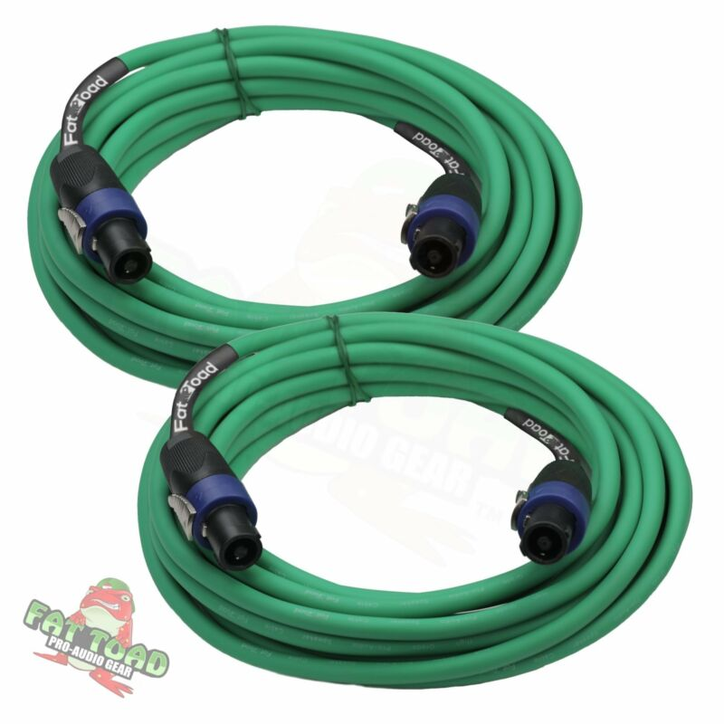 Speakon Cables 25 FT 2 PACK 12 AWG Wires –FAT TOAD Speaker Cords Pro Audio Stage