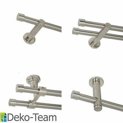 Gardinenstange 16 mm, Edelstahl Design, Länge und Ausführung frei