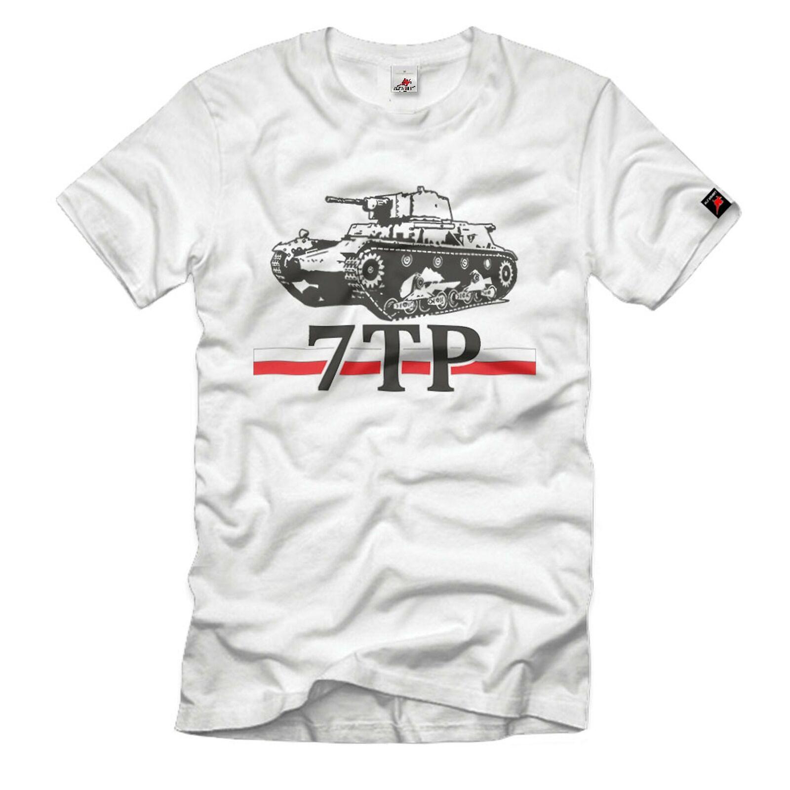 7TP polnischer Panzer Polen 1939 Polska tank T-Shirt#33024