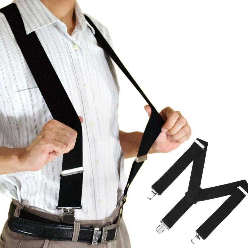 50mm Unisex Mens Women Braces Durable Wide & Heavy Duty Suspenders Adjustable
